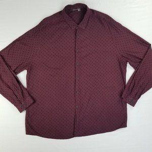Asos Burgundy Black Polka Dot 3XL Plus Reg Shirt